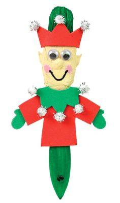 Nicole™ Crafts Elf Paintbrush #christmas #kids #craft