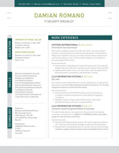 Resume Template | Structured Green – Loft Resumes
