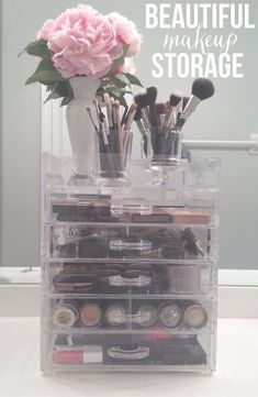 Acrylic Makeup Storage ** More details can be found by clicking on the image. #MakeupTips