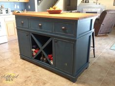 Free DIY Furniture  Project Plan: Learn How to Build a Kitchen Island