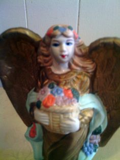 Handmade & Painted Vintage Porcelain Angel by cappelloscreations, $10.00@Etsy
