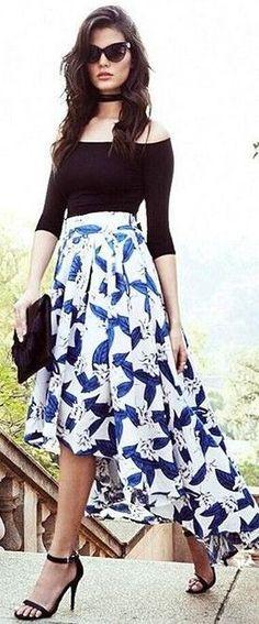 #summer #lulus #fashion | Black + Floral