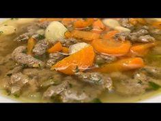 Májgaluskaleves - Az én alapszakácskönyvem - YouTube Pot Roast, Thai Red Curry, Ethnic Recipes, Food, Youtube, Carne Asada, Roast Beef, Essen, Meals