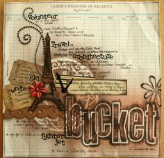 Bucket List - Scrapbook.com ... or turn bucket list into art (I think that is something I would like to do)