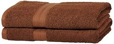 From 12.99 Amazonbasics Fade Resistant Towel Set 2 Bath - Acorn Brown 500gsm