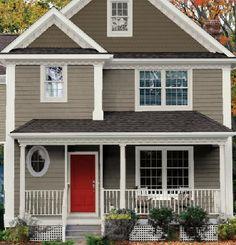 Blue Gray Exterior Paint Colors ltgrshutt | eggs, house and coaches