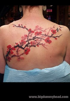 A cherry tree has to be in my new tattoo.  Having spent most of my time in orchards as a kid, it's just a must!