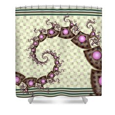 Pearlesence Shower Curtain featuring the digital art Pearlescence by Kimberly Hansen