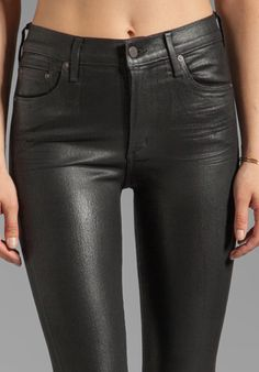 Citizens Of Humanity Rocket Coated Skinny in Black at Revolve Clothing - Free Shipping!