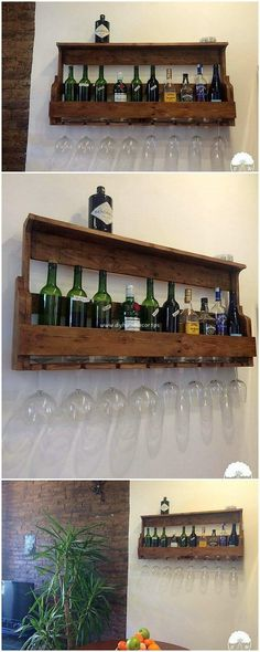This is the brilliant design of the wood pallet wine rack that do look so interesting and much artistic in the styling concepts. You can use it for your bar counter areas as where you can add it with the shelving effect too. It does stand as much attractive and unique in highlight.
