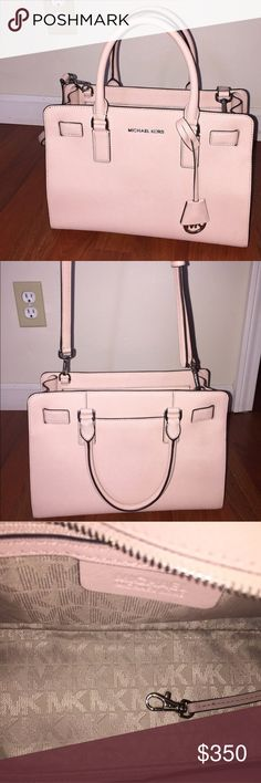 Michael Kors Top Zip Dillon It's more of a nude punk. Bag is authentic. Offers welcome! Michael Kors Bags Crossbody Bags