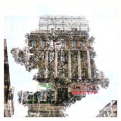Creative Double Exposure Nature Vs. Urban by CraigHullPhotography