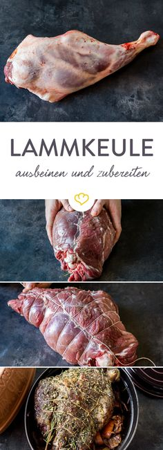 So you prepare a juicy, tender lamb shank-So bereitest du eine saftige, butterzarte Lammkeule zu A juicy lamb roast is easy at Easter. But what do I have to consider when preparing? Everything about the Easter roast can be found right here. Meat Recipes For Dinner, Easy Meat Recipes, Hamburger Meat Recipes, Stew Meat Recipes, Crockpot Recipes, Crowd Recipes, Chicken Recipes, Comida Armenia, Kids Meals