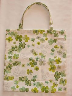 Bag - four-leaf clover Four Leaves, Four Leaf Clover, Reusable Tote Bags, Quatrefoil