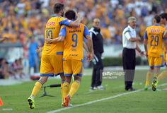Andre Gignac of Tigres celebrates after scoring the second goal of his team during a 3rd round match between Tigres UANL and Chivas as part of the Apertura 2015 Liga MX at Jalisco Stadium on August 09, 2015 in Monterrey, Mexico.