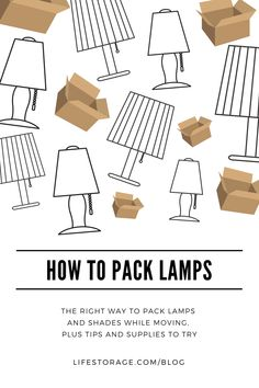 How to Pack Lamps and Lampshades for a Stress-Free Moving Day - 7 Moving House Tips, Moving Day, Moving Tips, Moving Stress, Moving Hacks, Packing To Move, Packing Tips, Travel Packing, Fabric Lampshade