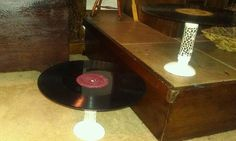 Old records and candles sticks ...cakestands
