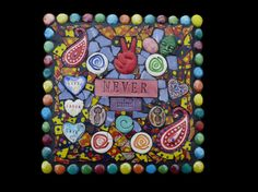 Never Mind Mosaic Wall Hanging Plaque by KateSutcliffeMosaics, $65.00