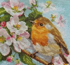 NEW Unopened Counted Cross Stitch Kit. Robin on by tanyaHPSrus