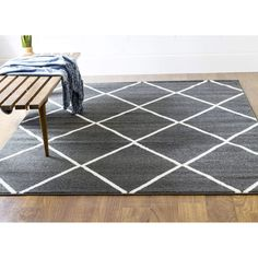 Modern Rug Dark Grey High Quality Carpet Polypropylene  #rugs #decor #carpet #decorating #dreamhome #homeaccents #fab #myhomeisbetterthanyours #diy #classy