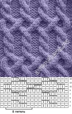 Crochet Patterns Techniques Various cable patterns (including knitting patterns) Cable Knitting Patterns, Knitting Stiches, Knitting Charts, Easy Knitting, Knitting Designs, Knit Patterns, Stitch Patterns, Knitting Accessories, Wall