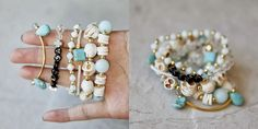 Easy enough to do with kids.  TUTORIAL: ELASTIC STRETCH BRACELETS