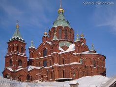 Catedral Uspenski (Ortodoxa del Este) en Helsinki en Finlandia