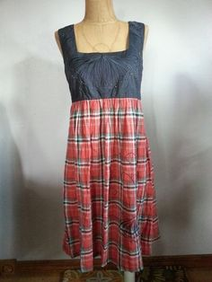 @Anthropologie @Lucca Couture #Plaid #Butterfly #Dress Size M Great Condition for sale on @eBay! http://r.ebay.com/zM79rm #Fashion #Style