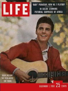 "Ricky Nelson ~ Dec. 1, 1958 issue ~ Old Life Magazines ~ Click image to purchase. Enter ""pinterest"" at checkout for a 12% discount."