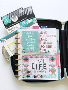 a peek inside The Happy Planner™ Storage Case of mambi Design Team member Thuy…