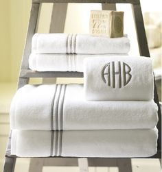 Personalize your initials on our pure cotton towels - a perfect gift for newlyweds!