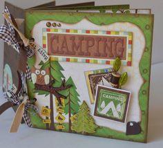 Mini Album Camping Fishing Backpacking - OOAK Scrapbook Chipboard 6x6 (Optional Boy Scout Album). $50.00, via Etsy.