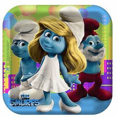 Smurfs Party Pack - Plates, Napkins, Cups, Party Hats, Bags, Stickers + Balloon