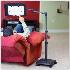 LEVO G2 Hands Free Bookholder - Reading Book Stand - Reading Aids - MaxiAids  Compatible with books, cookbooks, magazines, texts, and manuals measuring 8.5 x 11 inches or less Read sitting or lying down without neck strain or pain 5 axis swing arm for quick positioning Sturdy aluminum frame minimizes bouncing and eliminates swaying while you read Height Range: 30 in. to 56 in.