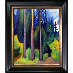 Edvard Munch 'Forest 1903' Hand Painted Framed Art