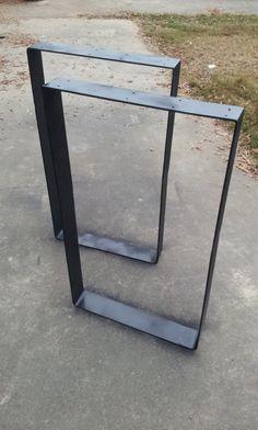 Flat Metal Table Legs FREE SHIPPING by BlueRidgeMetalWorks on Etsy