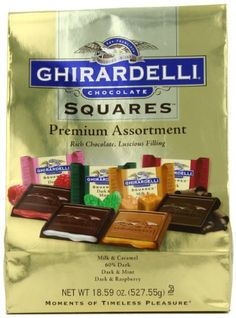 Ghirardelli SQUARES Premium Assortment (Gold), 18.59-Ounce Package - http://mygourmetgifts.com/ghirardelli-squares-premium-assortment-gold-18-59-ounce-package/