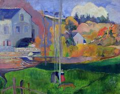 Britany landscape by Paul Gauguin.
