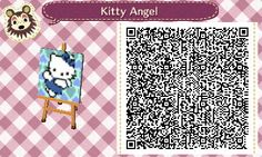Hello Kitty Angel Animal Crossing:New Leaf QR code
