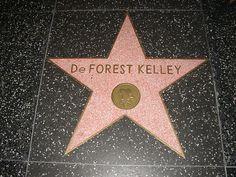 DeForest Kelley's Hollywood walk of fame star. Pay my respects