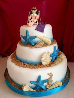 Beach life cake