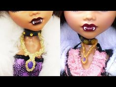 How to make replacement necklaces for your dolls - Easy Doll Crafts - YouTube