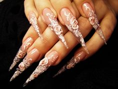who wants these long fake nails man i can't imagine how they can write or do anything with them with out hurting them self