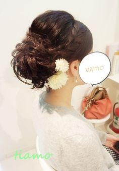 「 可愛い花嫁さまの1スタイルで和装&洋装アップヘア♪リハ編 」の画像|大人可愛いブライダルヘアメイク『tiamo』の結婚カタログ|Ameba (アメーバ)