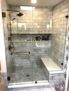 28 New ideas bathroom shower tile remodel herringbone pattern Diy Bathroom Remodel, Shower Remodel, Diy Bathroom Decor, Bath Remodel, Bathroom Renovations, Bathroom Ideas, Bathroom Makeovers, Bathroom Shelves, Bathroom Storage
