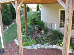 Shade Garden, There was some dead space under our deck where the builder had just put pine straw, so we went to a nearby new under construction sub division and brought home several truck loads of rocks and built this shade garden.  , Gardens Design