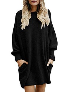 Robe Pull Femme Hiver Longue Walaka Robe Tricot/é Zipper V Neck Manches Longues Sweater Robe Moulante Mini Robe