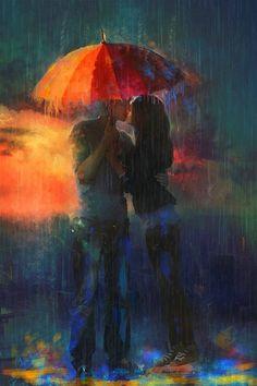 George Brassens_le parapluie_  En séchant l'eau de sa frimousse, D'un air très doux ell' m'a dit « oui ».  Un p'tit coin d' parapluie, Contre un coin d' paradis. Elle avait quelque chos' d'un ange, Un p'tit coin d' paradis, Contre un coin d' parapluie. Je n' perdais pas au chang', pardi !  Chemin faisant que ce fut tendre D'ouïr à deux le chant joli Que l'eau du ciel faisait entendre Sur le toit de mon parapluie !