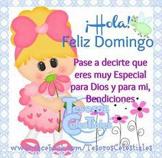 ¡Hola, Feliz Domingo! Pase a decirte que eres muy Especial para Dios y para mi, Bendiciones.