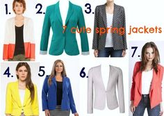 7 cute coloured jackets for spring 2012